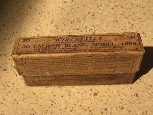Vintage Winchester .30 Cal Blank Box model 1898