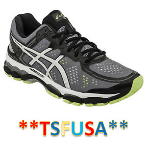 NEW Men's Gel-Kayano 22 4E Extra Wide Sz 8 Charcoal Silver Lime T549N No Box ~C