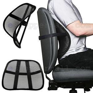 Cool Vent Cushion Mesh Back Lumbar Support New Car Office Chair Truck Seat Black $5.99