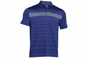 Under Armour Coldblack Engineered Stripe Mens Golf Polo SIZE L REF C2201