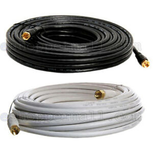 RG59 Gold Plated Coaxial Digital Cable for Satellite TV VCR Video 25' 50' 100'