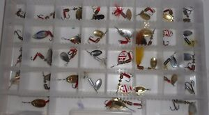 Lot of 50 Freshwater Fishing Lures Mepps Rooster Tail Mepps Blue Fox