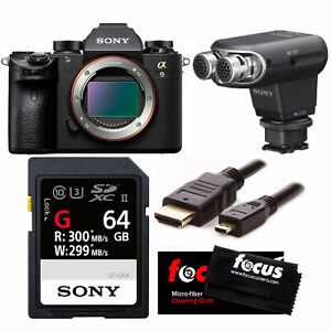 Sony Alpha a9 Full Frame Mirrorless Camera and Sony Stereo Microphone