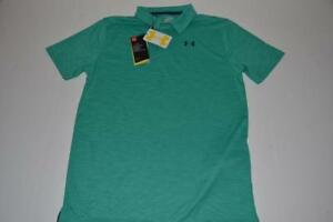 UNDER ARMOUR GOLF GREEN TEAL DRY FIT POLO SHIRT BOYS SIZE XL NEW