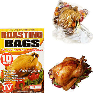 New Roasting Bags Microwave Oven Cooking Poultry Chicken Pork Meat Fish( 3/10)