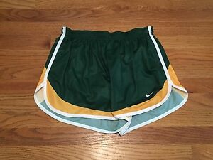New Nike Men's L Oregon Ducks Running shorts Mesh Liner Green Yellow