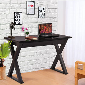 Tempered Glass Top Computer Desk PC Laptop Table Writing Workstation w Drawer