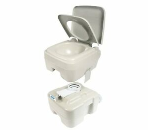 Portable Potty Toilet RV Camp Trailer Flushing Camping Travel Bathroom Boating