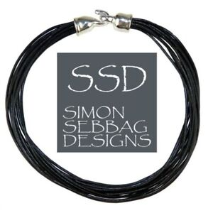 Simon Sebbag Leather Necklace Black Longer 18