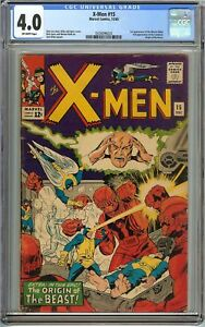 X-Men #15 CGC 4.0 VG BEAST ORIGIN MUTANT 1st MASTER MOLD Marvel Comics STAN LEE
