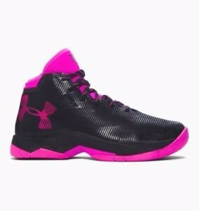 Under Armour Curry 2.5 Girls' Basketball Shoes (Size 5.5 - 7) Black Pink 1274062