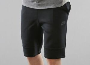 NEW MENS XS S 2XL NIKE TECH FLEECE SHORTS ALL BLACK 628984 010 SOLD OUT 3M 1mm
