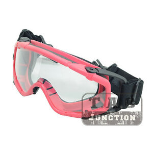 Tactical Anti-Fog Ballistic Goggle Outdoor 2pcs Lens Safety Glass for Helmet