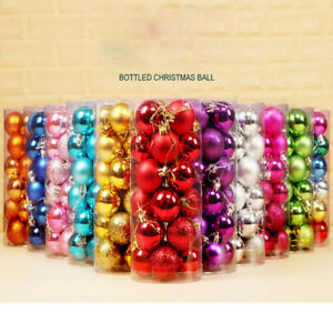 24pcs 30mm Christmas Xmas Tree Ball Bauble Hanging Home Party Ornament Decor $1.55