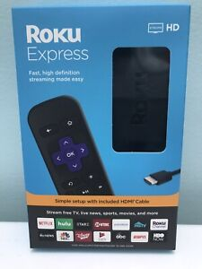 ROKU EXPRESS ( 3900r ) STREAMING MEDIA PLAYER (BLACK) LATEST MODEL  NEW IN BOX