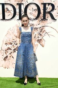 NWT Christian Dior Custom Made Embellished Denim Bustier Dress FR34 US2  16K
