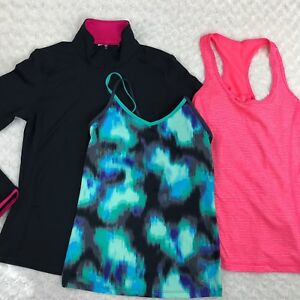 Lot Of 3 Womens Workout Clothes Champion DanskinNow Tank Tops Sweat Shirt Small