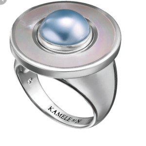 Kameleon JewelPop Sterling Silver KR25 Mother of Pearl Ring #1275