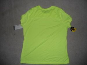 Champion Running Shirt Bright Yellow Reflective Women XL Duo Dry Glow in Dark NW