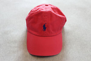 Polo ralph lauren Men tropical Pink cotton chino sport baseball Cap hat One Size