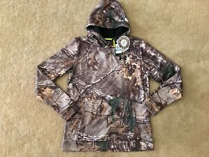 Under Armour Boys Camo Camouflage RealTree Xtra ColdGear Storm Hoodie Sweatshirt