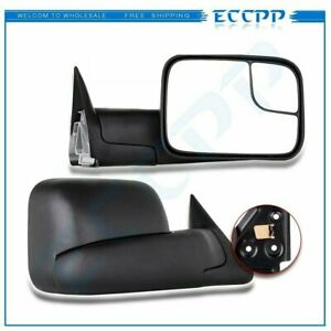 LeftRight For 1994 01 Dodge RAM 1500 94 02 2500 3500 Tow Flip Up MANUAL Mirrors $66.49