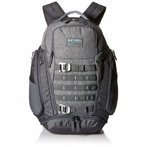 Under Armour Backpack College Laptop Book Bag Water Resistant School Pack Grey