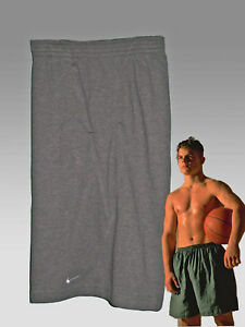 NEW NIKE Men's Fit-Dry Fleece Gym Fitness Shorts Charcoal Grey XL