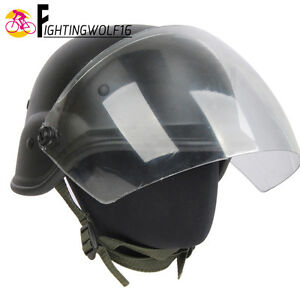 Airsoft M88 PASGT Kelver Tactical Helmet w Clear Visor Wargame Motorcycle Kit