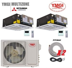 2 ZONE DUCTLESS MINI SPLIT AIR CONDITIONER Heat Pump 36000 BTU 1224