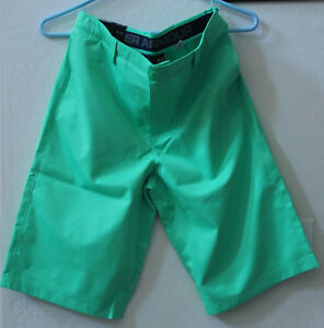 BOYS YOUTH KIDS UNDER ARMOUR Golf Match Play Shorts-Size 18-Green-NWT-RTL $40