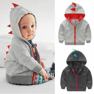 Infant Toddler Baby Boy Girl Casual Warm Coat Outwear Hooded Tops Clothes Coat