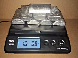 10 Pounds. 100% Recycled Range Lead Ingots for Casting Jigs Sinkers Bullets