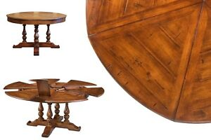 Round to Round Solid Walnut Jupe Dining Table with Hidden Leaves