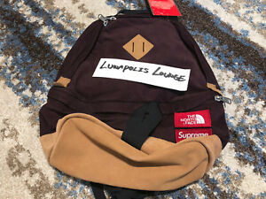 SUPREME x THE NORTH FACE CORDUROY BACKPACK FW12 - BOX LOGO S BOGO RARE NEW