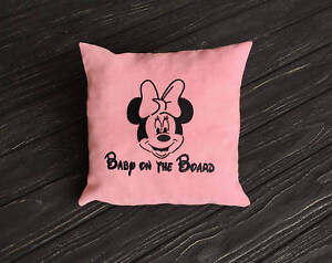 Baby On The Board Pillow Covers. Minnie Mouse Pillowcase. Disney Car Pillow vm47