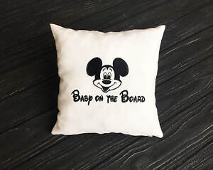 Baby On The Board Pillow Covers. Mickey Mouse Pillowcase. Disney Car Pillow vm48