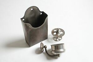 antique bathroom toilet cup tumbler toothbrush holder  brasscrafters vtg deco