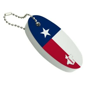 Texas TX Home State Flag Licensed Floating Foam Keychain Fishing Boat Buoy
