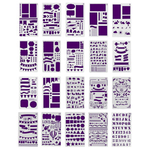 Bullet Journal Stencil Kit 20 Stencils Best for Scrapbooking Card Making and