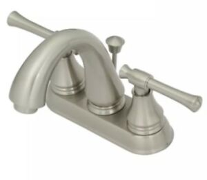 Seasons Callabria Lavatory Faucet Brushed Nickel Two-Handle With Pop-Up