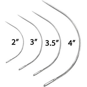 Curved Sewing Needles Repair Quilting Upholstery Wig Hair Weave 2quot; 3quot; 3.5quot; 4quot; 5quot; GBP 3.99
