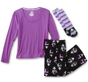 Joe Boxer Pajama 3PC Set Shirt Pants Socks Penguins Size XL New Fast Ship