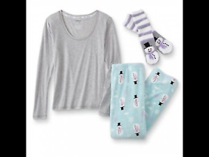 JOE BOXER 3 PIECE PAJAMAS WOMENS SIZE XL EXTRA LARGE NEW SNOWMAN FAST SHIP