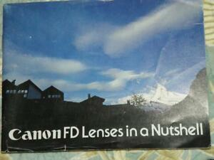 CANON FD LENSES IN A NUTSHELL FOR CANON MANUAL FD LENSES