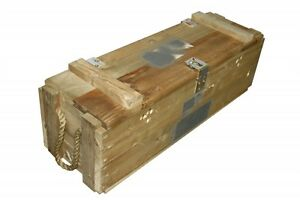 Military Issue Wooden Ammo Box Crate 30 x 9 x 9 Inches