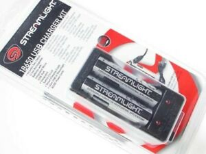 Streamlight 22010 USB Cord 18650 Charger Charging Kit w Cradle + 2 Batteries