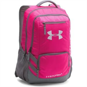 Under Armour UA Team Hustle Storm Backpack Tropic PinkGraphite
