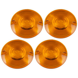 4 x Amber Turn signal lights Lens Covers Fit For Harley Heritage Softail Touring
