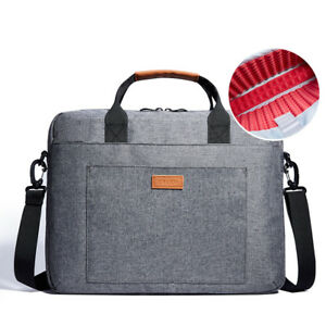 KALIDI Laptop Messenger Bag Briefcase Removeable Strap for 17 inch Laptop Gray
